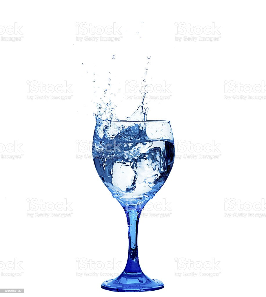 Glass of Fresh Water royalty-free stock photo