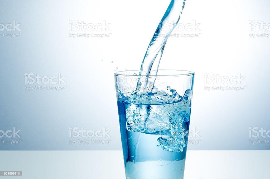 Glas frisches Wasser Lizenzfreies stock-foto