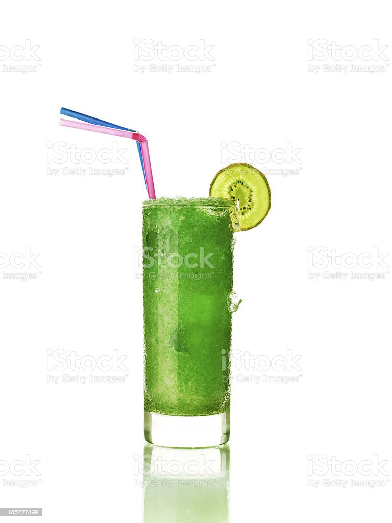 glass of frozen kiwi drink royalty-free stock photo