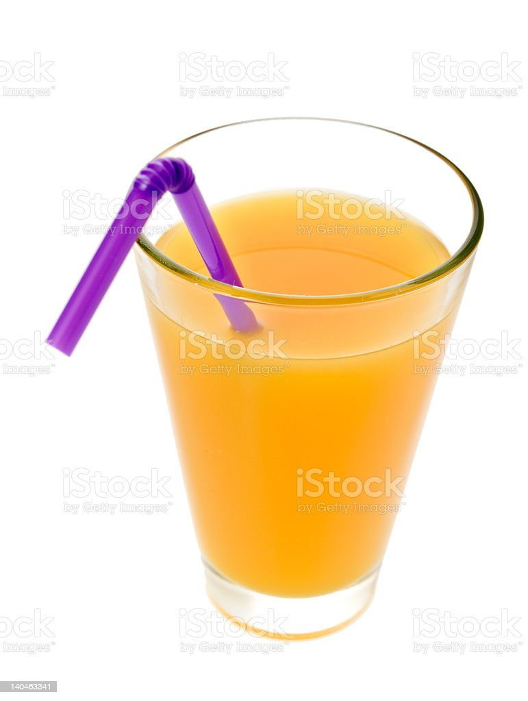 Glass of fruit juice royalty-free stock photo