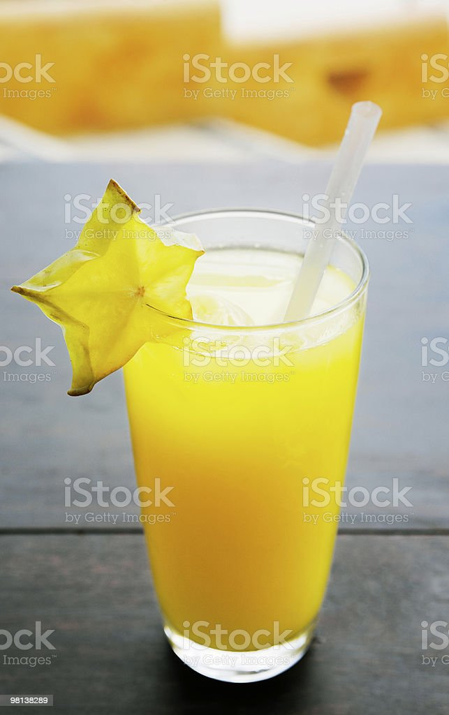 glass of fruit orange juice royalty-free stock photo