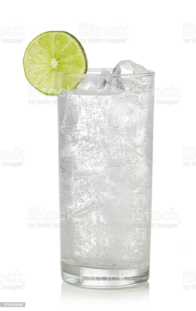 Glass of gin and tonic cocktail royalty-free stock photo