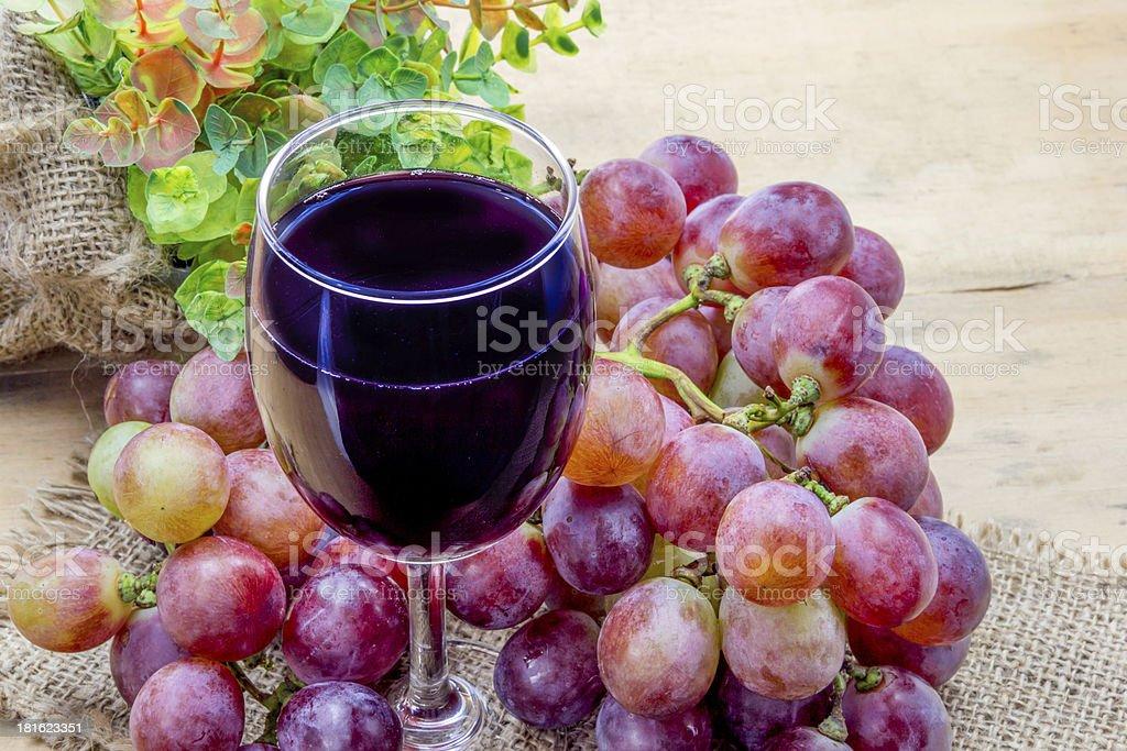 Glass of grape juice royalty-free stock photo