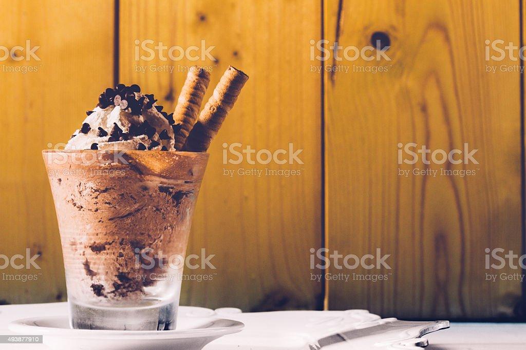 Glass of Ice Cream stock photo