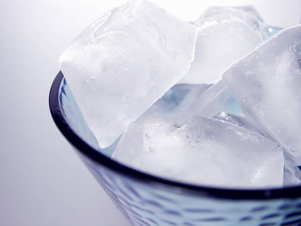 Glass of Ice Cubes II stock photo