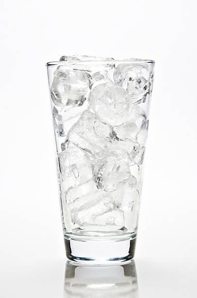 glass of ice stock photo