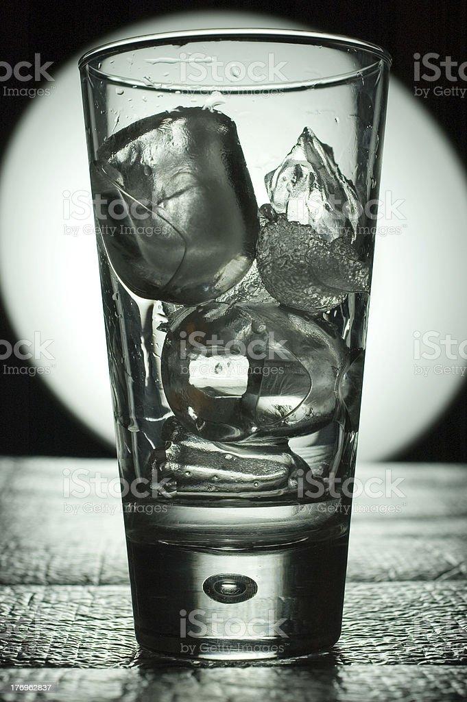 glass of ice stock photo