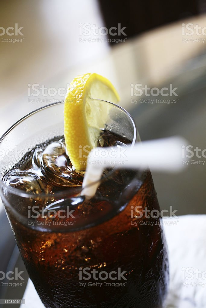 Glass of Iced Soft Drink royalty-free stock photo