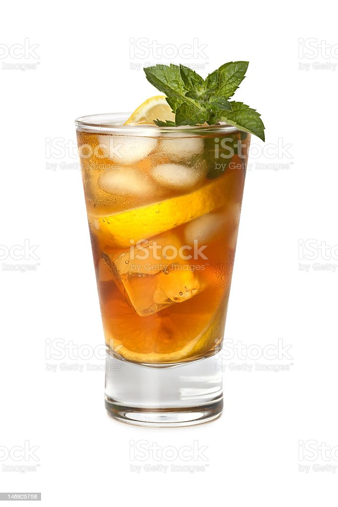 Glass of iced tea stock photo