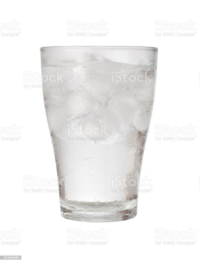 Glass of iced water foto de stock royalty-free