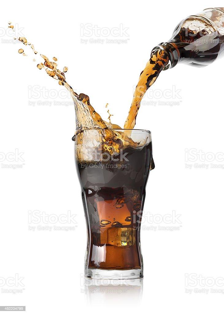 Verter cola - foto de stock