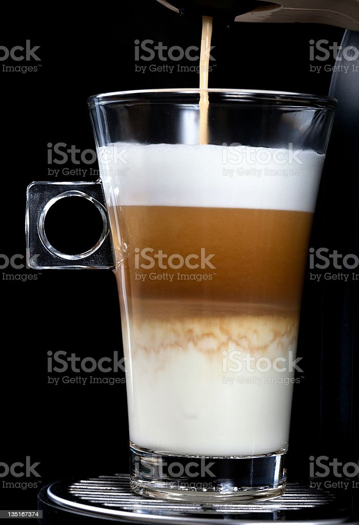 Glass of Latte Cappuccino royalty-free stock photo