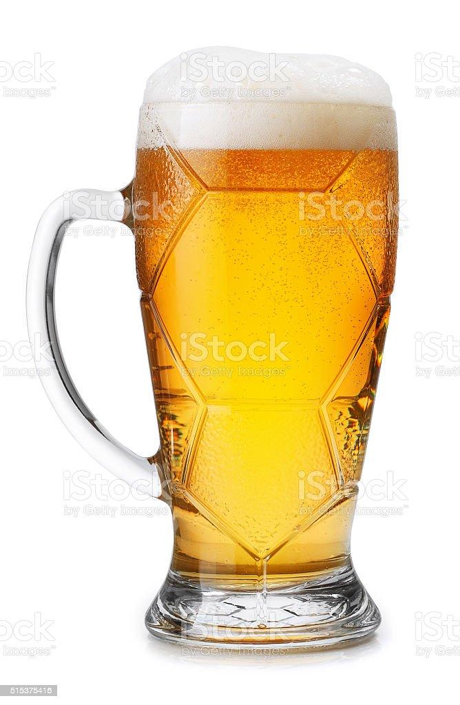 Helle Bier Glas, isoliert auf weißem Hintergrund – Foto