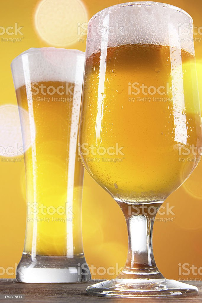 Glass of light beer royalty-free stock photo