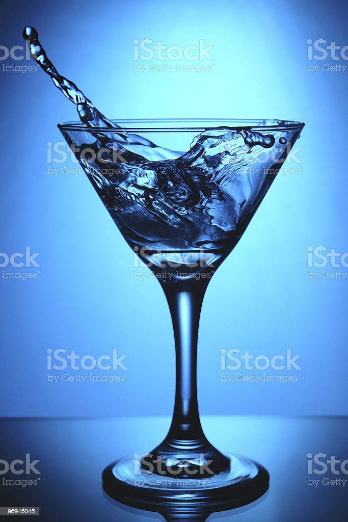 glass of martini splash royalty-free stock photo