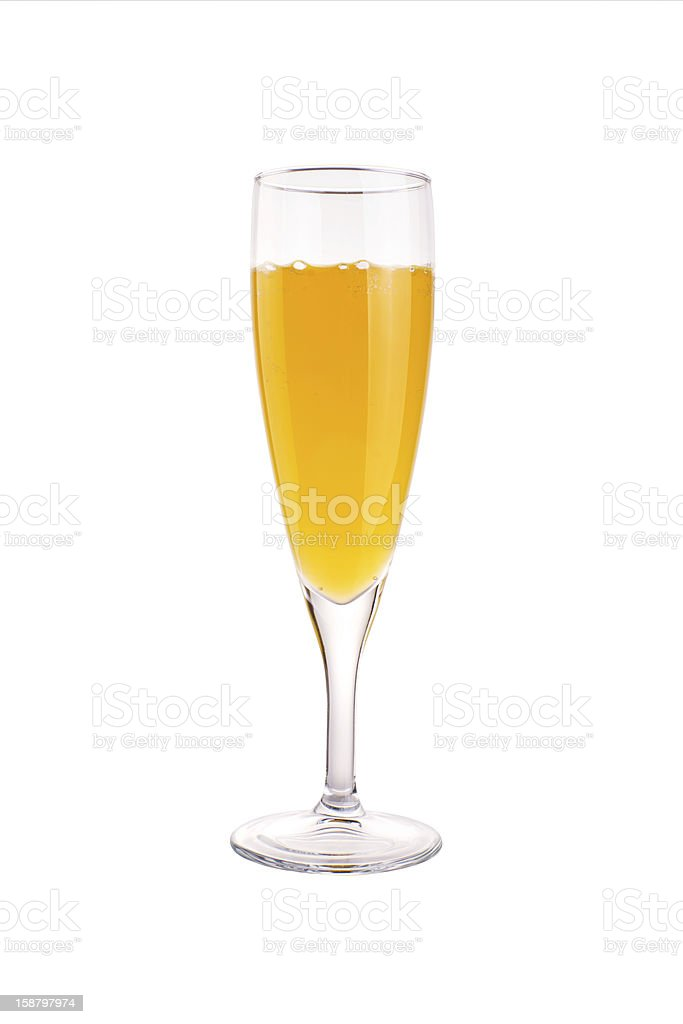 Glass of Mimoza Cocktail stock photo