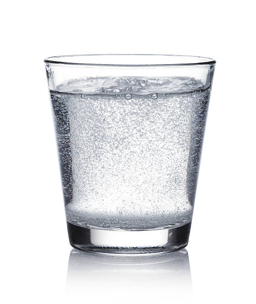 glass of mineral water stock photo