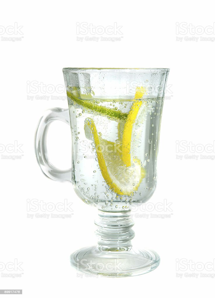 Glass of mineral water royalty-free stock photo