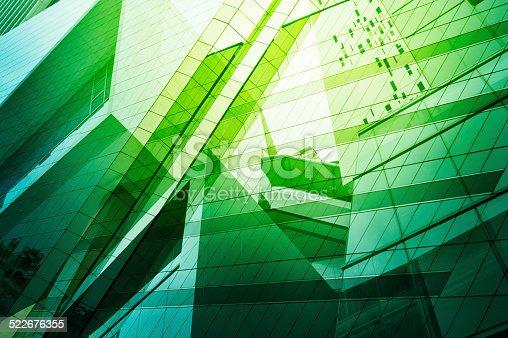 istock Glass of modern tower 522676355