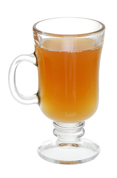 glass of mulled apple cider  hot apple cider stock pictures, royalty-free photos & images