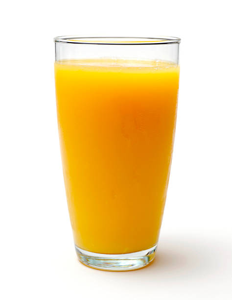 Glass of Orange Juice stock photo