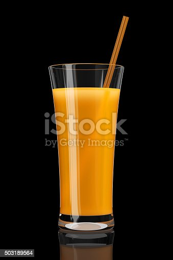 istock Glass of orange juice 503189564