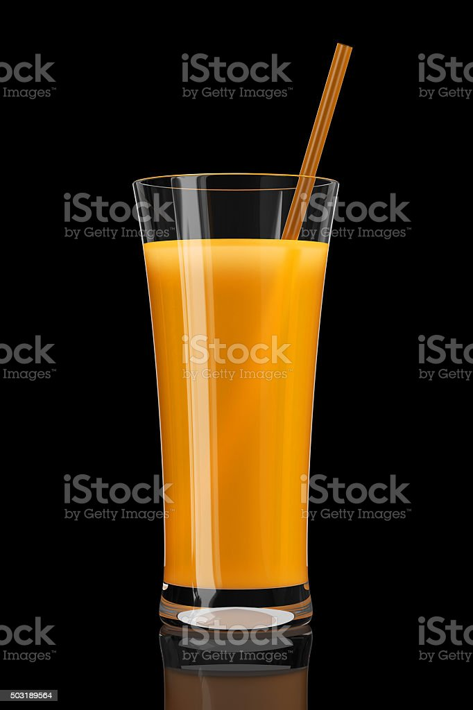 Copo de suco de laranja - foto de acervo