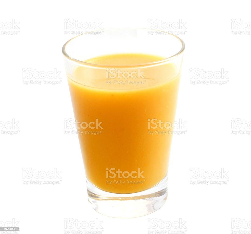 Vaso de jugo de naranja foto de stock libre de derechos