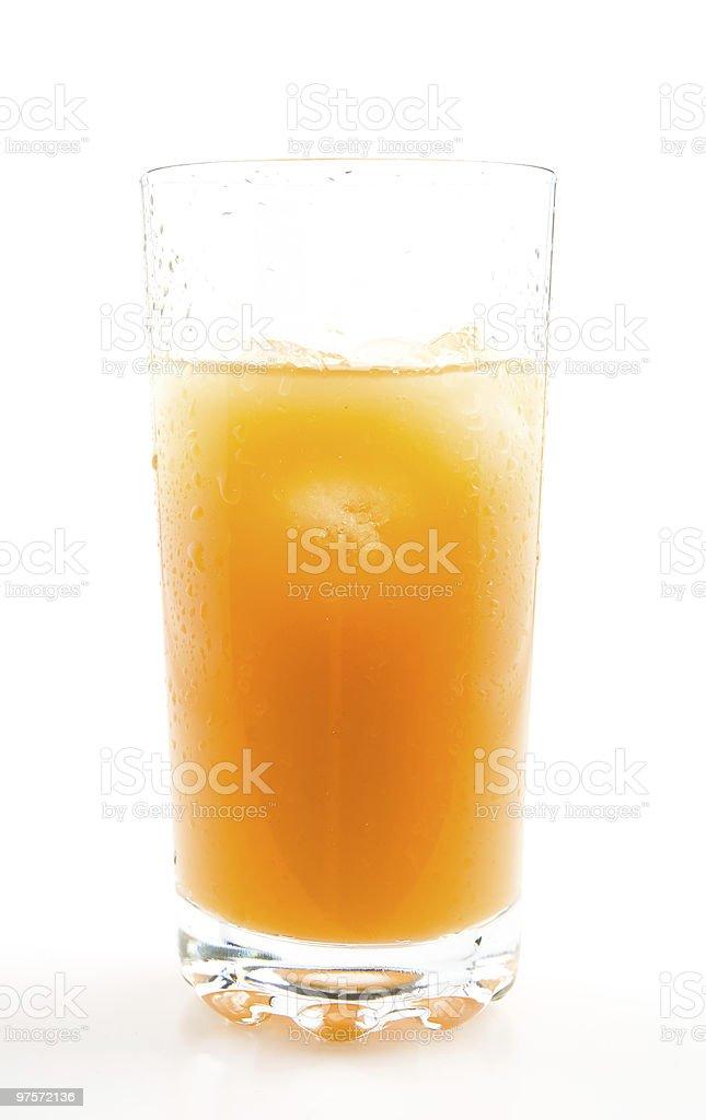 glass of orange juice with ice royalty-free stock photo