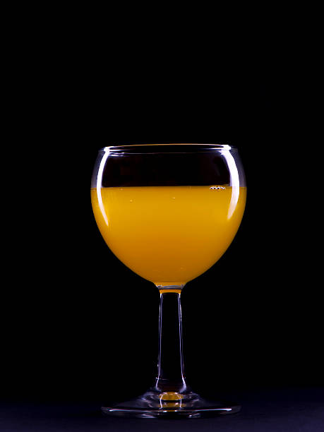 Glass of Orange stock photo