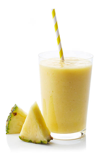 Glass of pineapple smoothie - Photo