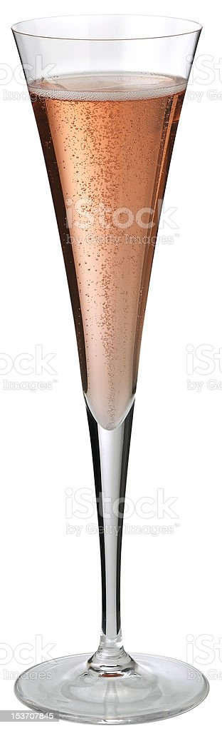 Glass of pink sparkling wine stock photo