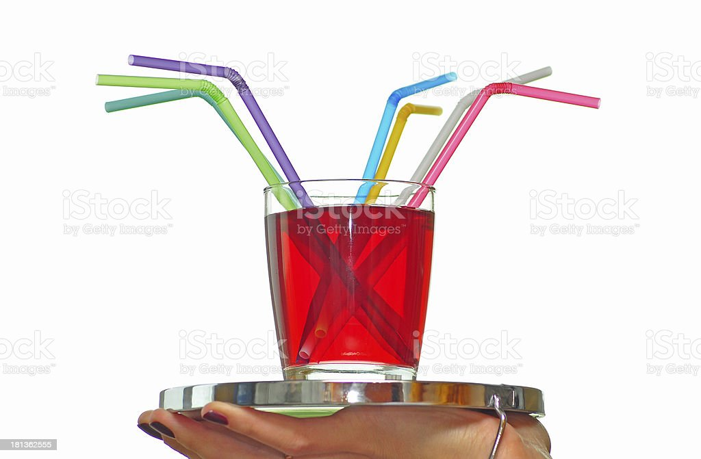glass of red juice royalty-free stock photo