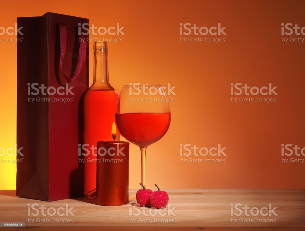 Glass of Red Wine foto stock royalty-free