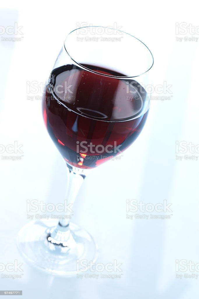 glass of redwine royalty-free stock photo