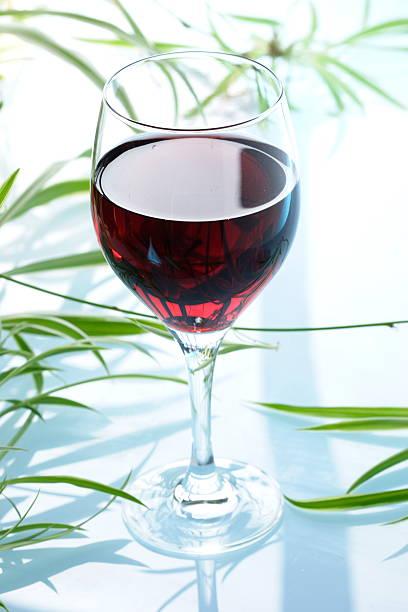 Copo de vinho tinto - foto de acervo