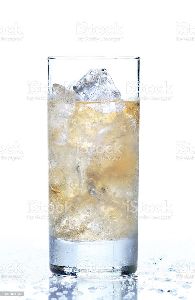 glass of refreshing ginger ale stock photo