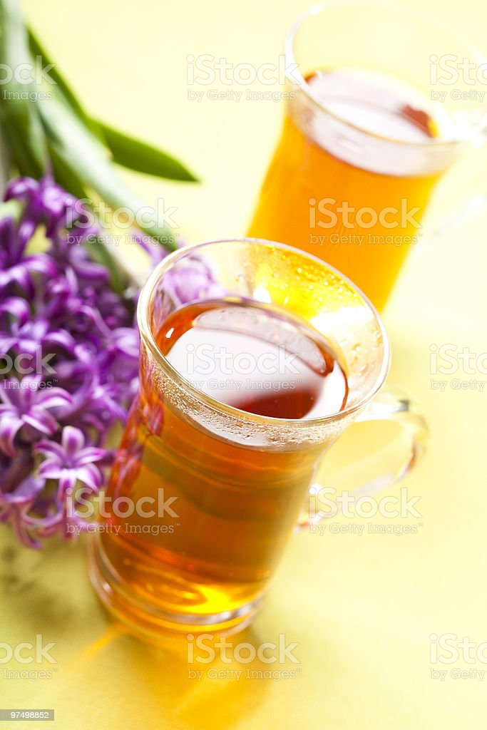 glass of rooibos tea royalty-free stock photo