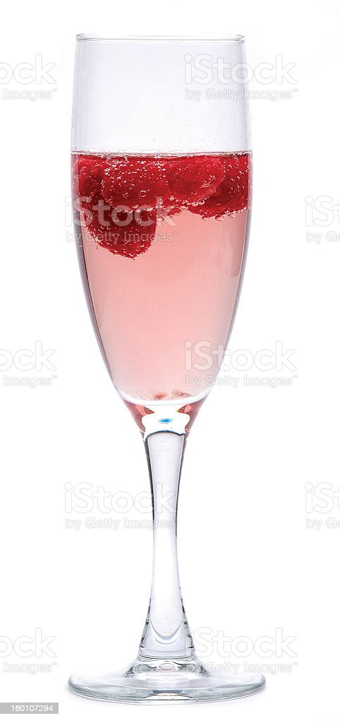 Glass of Rose Champagne stock photo