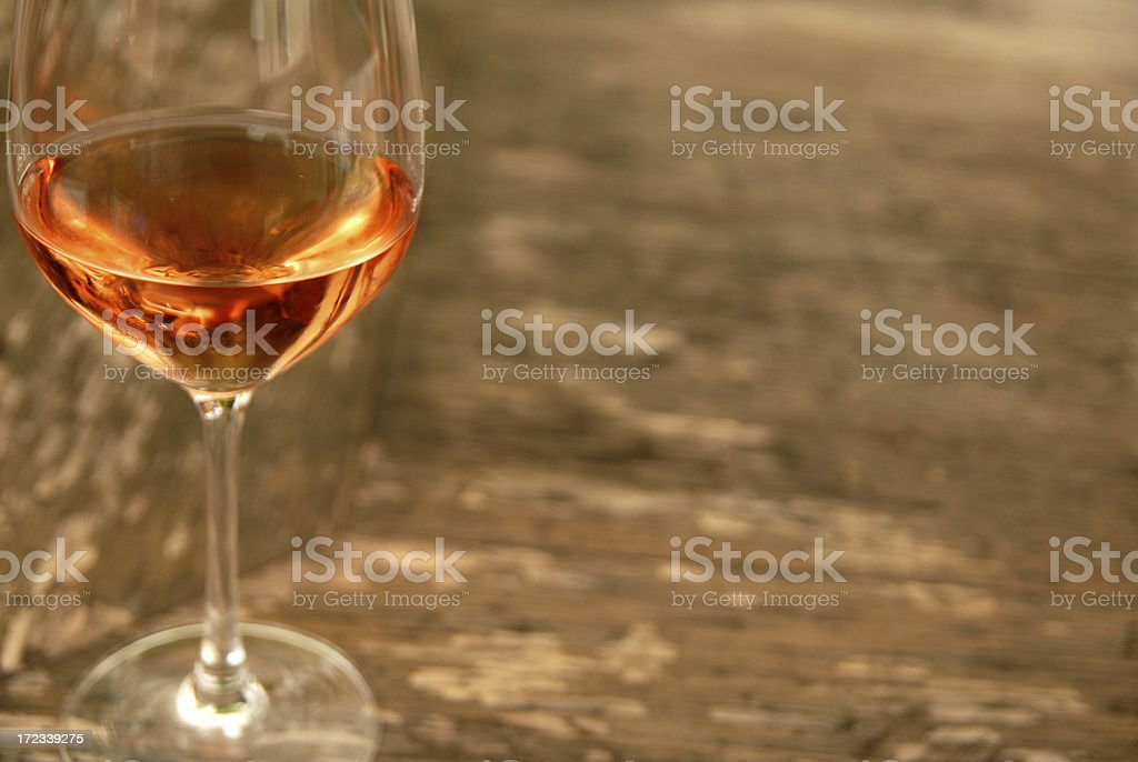 Glass of Rose stock photo