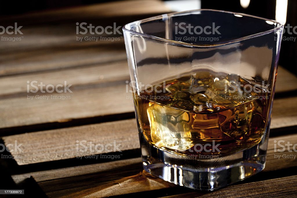 Glass of scotch whiskey - Royalty-free Alcohol Stock Photo