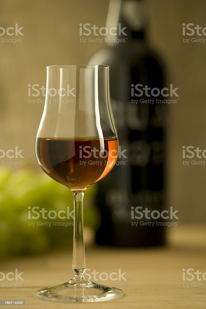 Glass of Sherry or Madeira Wine stock photo