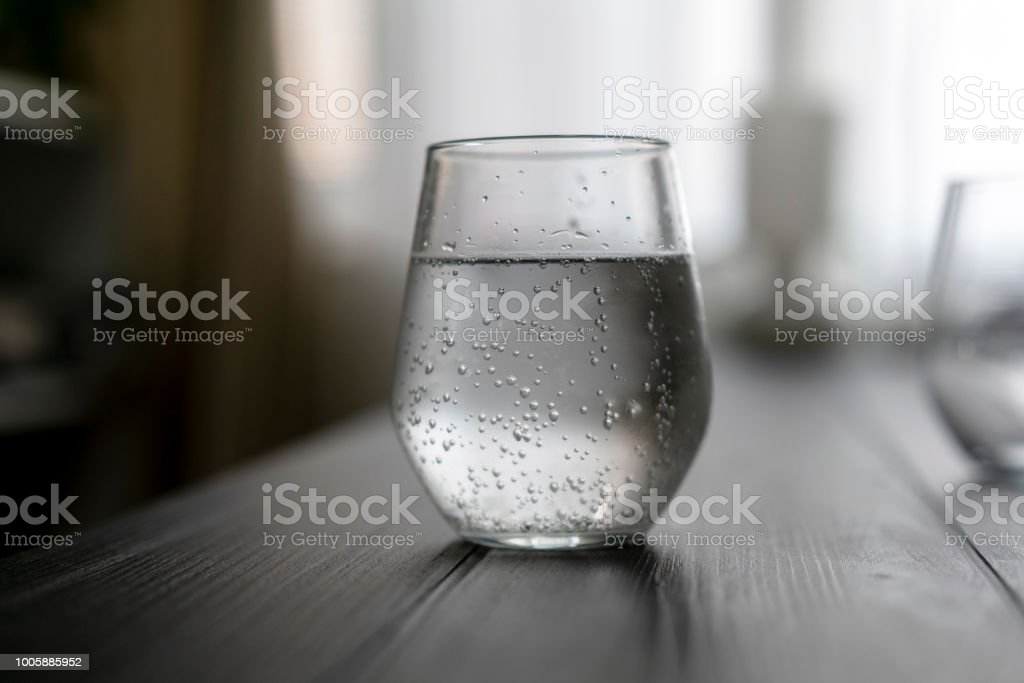 glass of soda water royalty-free stock photo