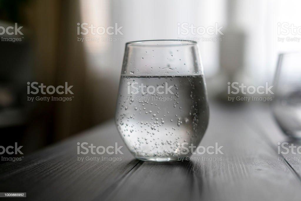glass of soda water stock photo