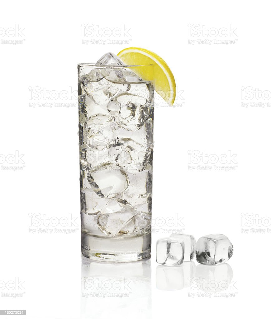 glass of soda with ice royalty-free stock photo