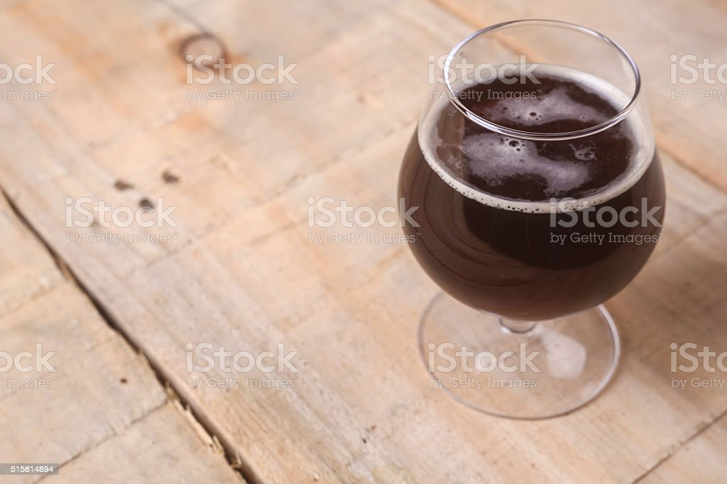 Glass of stout stock photo