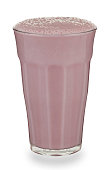 Glass of strawberry Milkshake