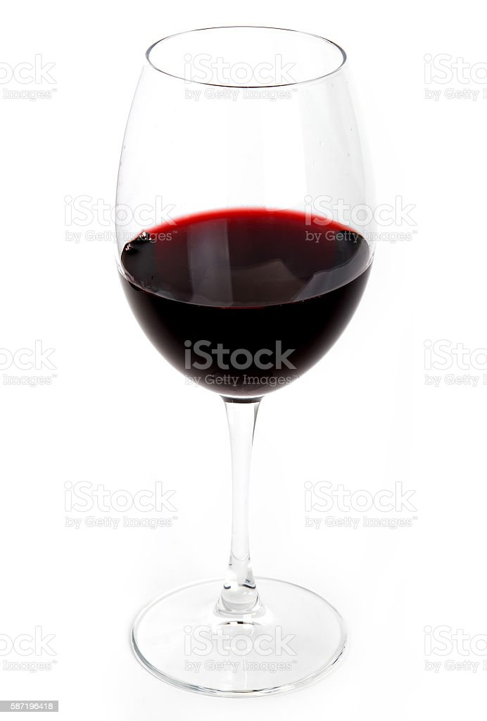Glass of the red wine stock photo
