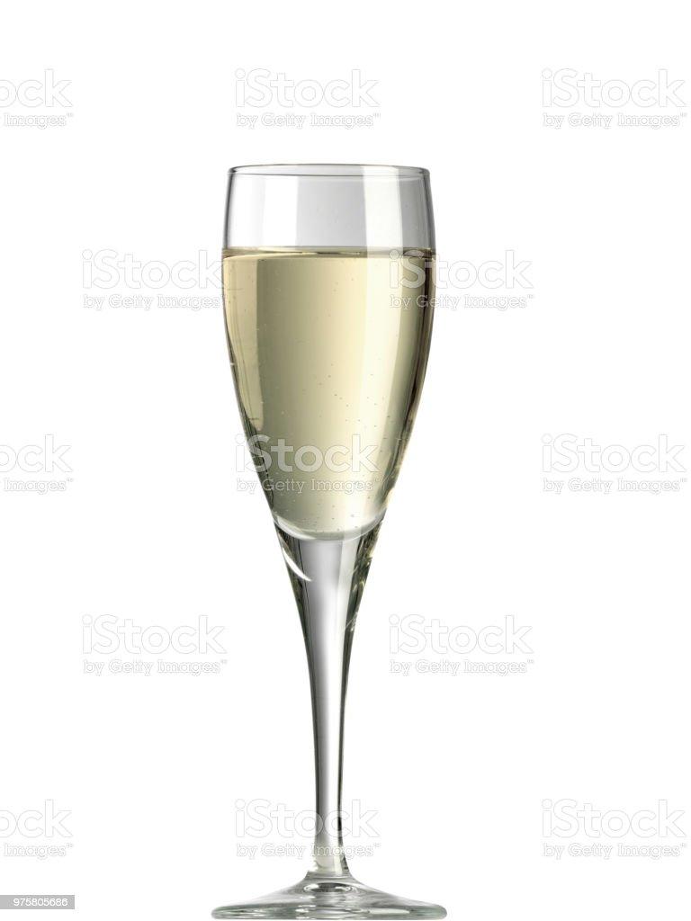 glass of trebbiano white wine stock photo
