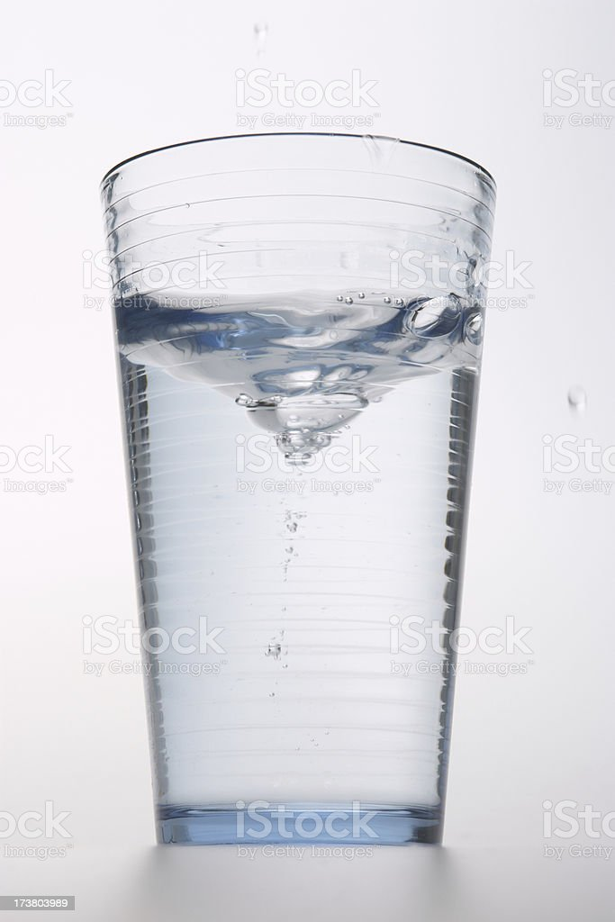 glass of water immediately after stirring royalty-free stock photo